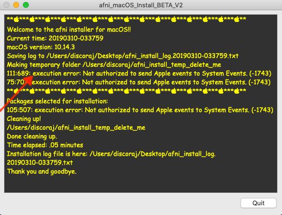 1 1 7  macOS: The App-based system setup — AFNI, SUMA and