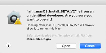 1 1 7  macOS: The App-based system setup — AFNI, SUMA and FATCAT